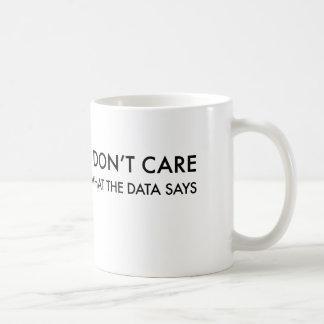 Jag att bry sig inte vad datanågot att säga kaffemugg