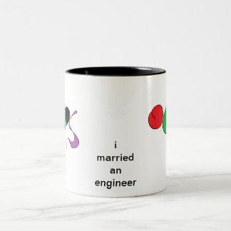 jag att gifta sig en ingenjör Två-Tonad mugg