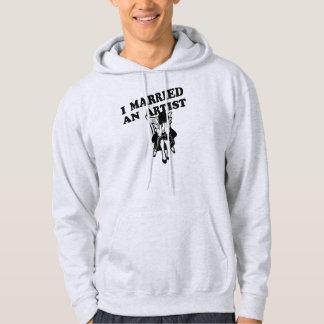 Jag att gifta sig en konstnär sweatshirt med luva