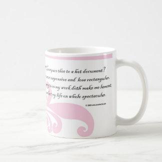 jag att jämföra thee till ett hettdokument? Mugg