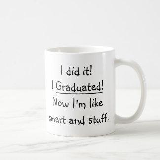 Jag avlade examen smart akademikert roligt vit mugg