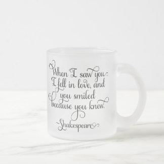 Jag avverkar förälskat, och du log - Shakespeare Frostad Glasmugg