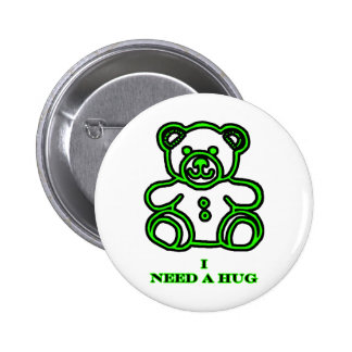 Jag behöver en krambjörngrönt de MUSEUMZazzle gåvo Pins
