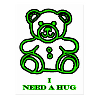 Jag behöver en krambjörngrönt de MUSEUMZazzle Vykort