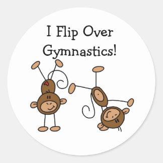 Jag bläddrar över gymnastik runt klistermärke