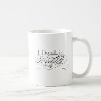 Jag bor i möjligheten - det Emily Dickinson Kaffemugg