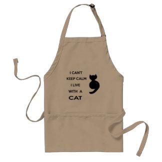 jag bor med en katt förkläde