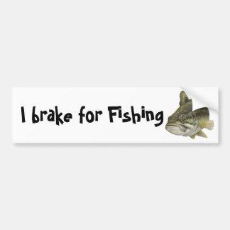 Jag bromsar för att fiska bildekal