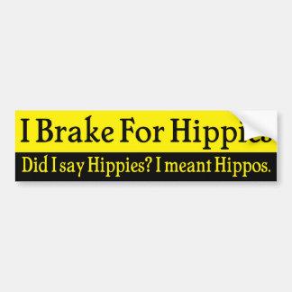 Jag bromsar för Hippies Bildekal