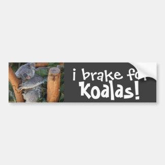 jag bromsar för KOALAS! gullig bildekal