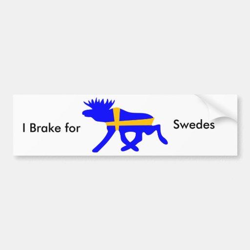 Jag bromsar för svenskar, bildekal