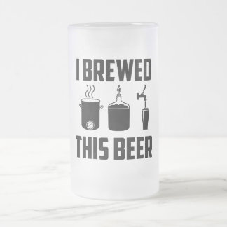 Jag bryggade denna öl! Stein Frostad Glas Mugg