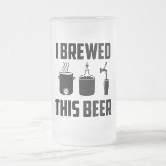 Jag bryggade denna öl! Stein Frostat Ölglas