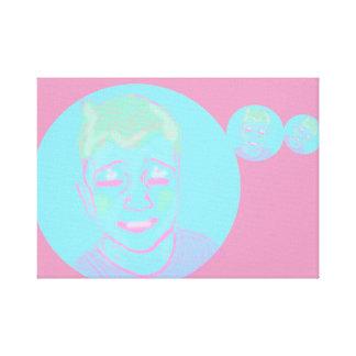 JAG C U bubblar pojken Canvastryck