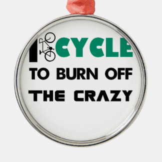 Jag cyklar för att bränna av det galet, cykel julgransprydnad metall