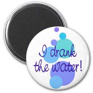 Jag drack vatten magnet