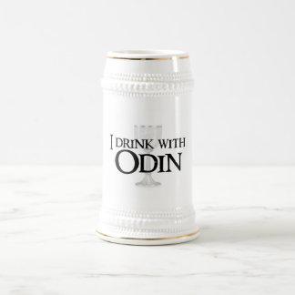 Jag dricker med den Odin ölmuggen Sejdel