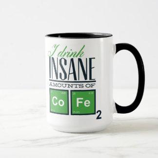 Jag dricker sinnessjuka belopp av rolig kemi för mugg