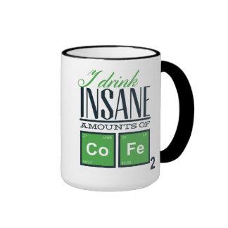Jag dricker sinnessjuka belopp av rolig kemi för ringer mugg