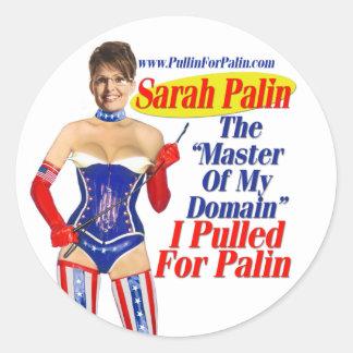 Jag drog för Palin - styra av min Runt Klistermärke