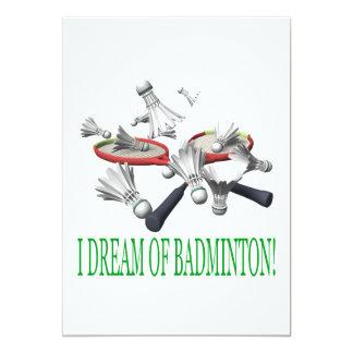 Jag drömm av Badminton 12,7 X 17,8 Cm Inbjudningskort