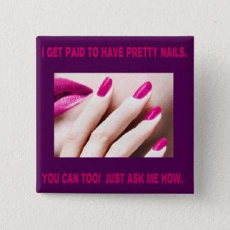 Jag får betald ha nätt naglar standard kanpp fyrkantig 5.1 cm