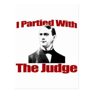 Jag festade med domaren vykort