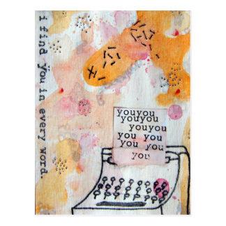 Jag finner dig i varje ordvykort vykort