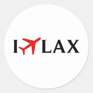 Jag flyger SLAPPT - den Los Angeles internationell Runt Klistermärke