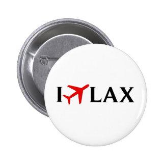 Jag flyger SLAPPT - den Los Angeles internationell Standard Knapp Rund 5.7 Cm