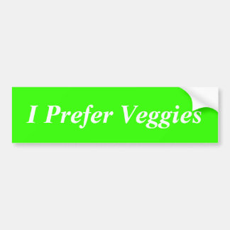 Jag föredrar Veggies Bildekal