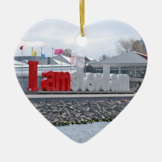 Jag förmiddagen Amsterdam undertecknar, Julgransprydnad Keramik