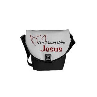 Jag förmiddagen besegrar med Jesus Messenger Bag