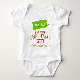 Jag förmiddagen din jul gåvan, mammanågot att säga t-shirts