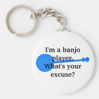 Jag förmiddagen en Banjospelare, vad är din ursäkt Rund Nyckelring