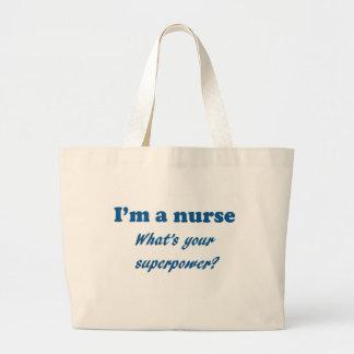 Jag förmiddagen en sjuksköterska vad är din jumbo tygkasse