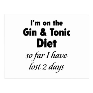 Jag förmiddagen på ginen & Tonic bantar Vykort