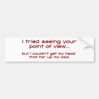 Jag försökte att se att dina pekar av View - men j Bildekal