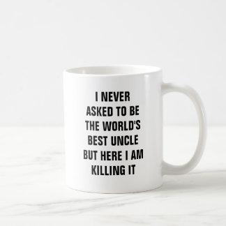Jag frågade aldrig att vara världens bäst uncle kaffemugg