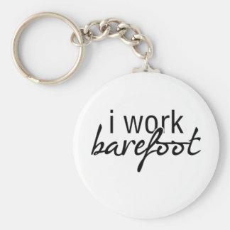Jag fungerar barfota rund nyckelring
