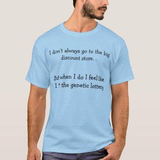Jag går inte ofta till den stora lågprisaffären tröja