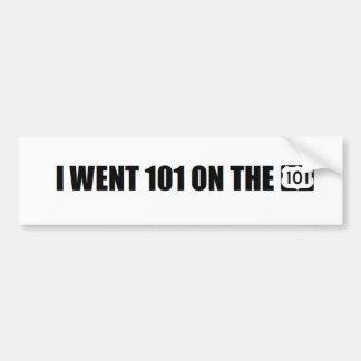 Jag gick 101 på 101na bildekal