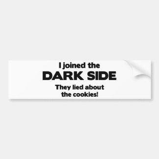 Jag gick med den mörka sidan. De låg om kakan Bildekal