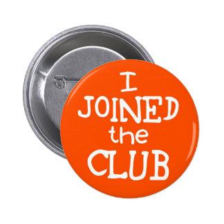 Jag gick med klubben standard knapp rund 5.7 cm
