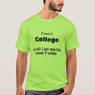 Jag gick till högskolan och nedlusade tee