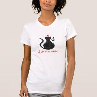 Jag gillar att vara den stygga julkattT-tröja T Shirts