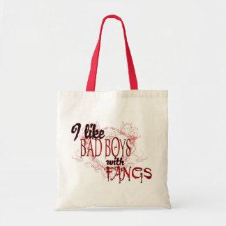 Jag gillar Badboys med huggtänder Budget Tygkasse