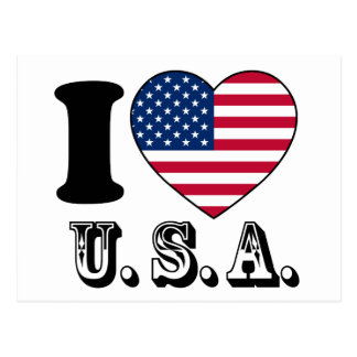 Jag gillar eniga USA - Sates av Amerika Vykort