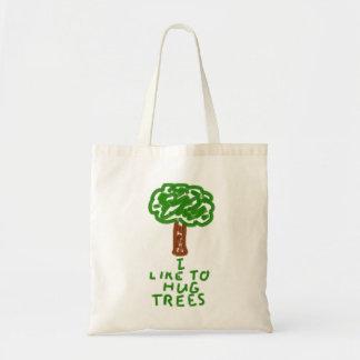 Jag gillar för att krama träd tygkasse