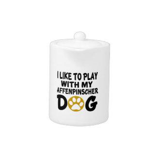 Jag gillar för att leka med min Affenpinscherhund